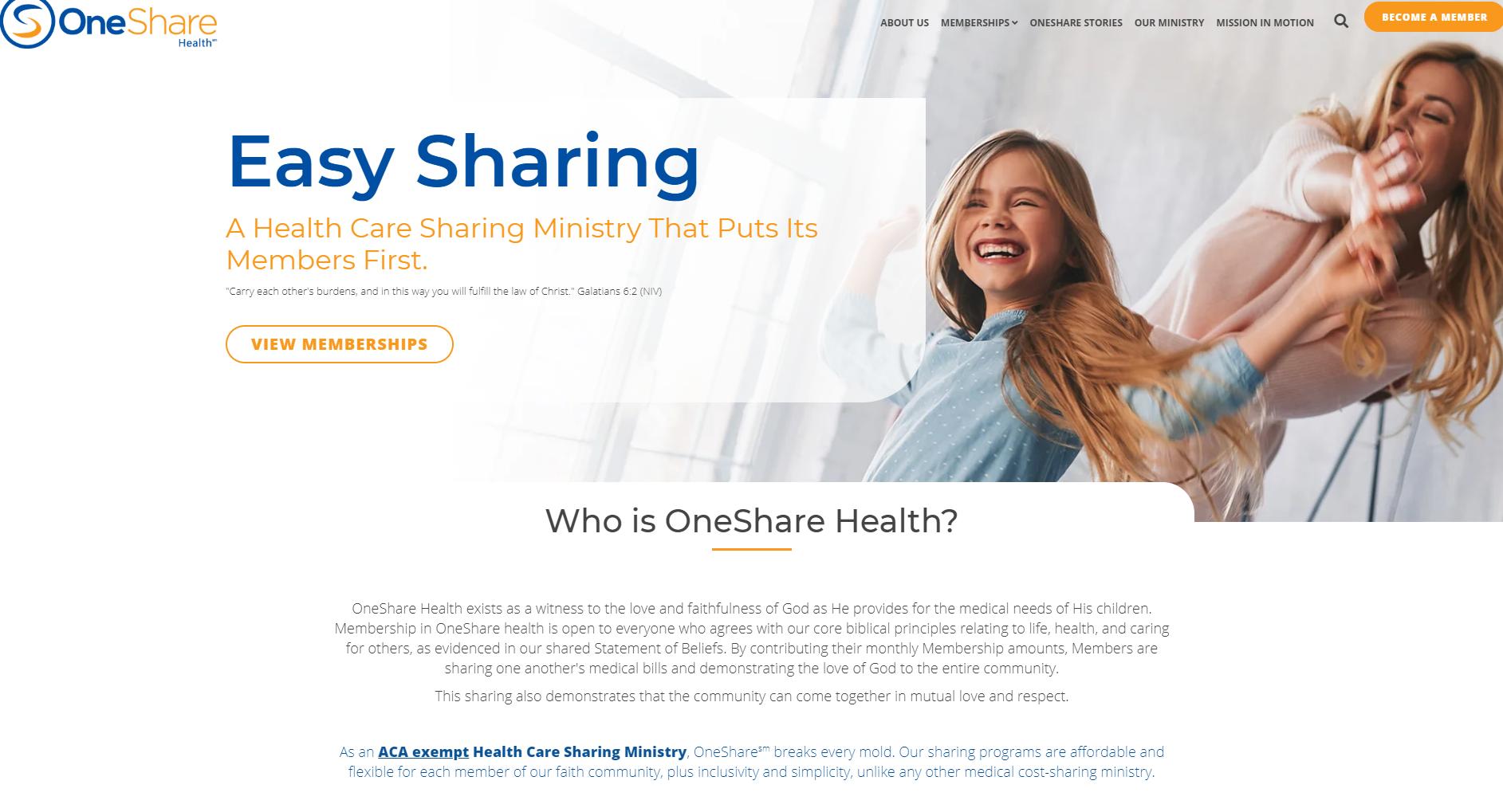 Alex Cardona OneShare Health | Christian Health Sharing Ministry
