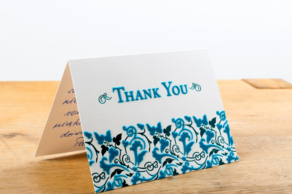 If you're trying to raise money for your church, thank you notes go a long way.