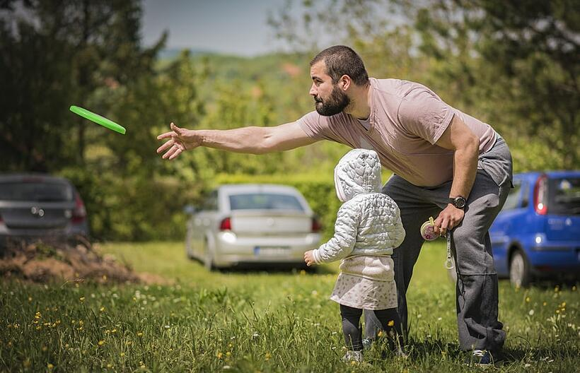A summer health and wellness tip and summer health tip is to is to teach the kids to play frisbee.