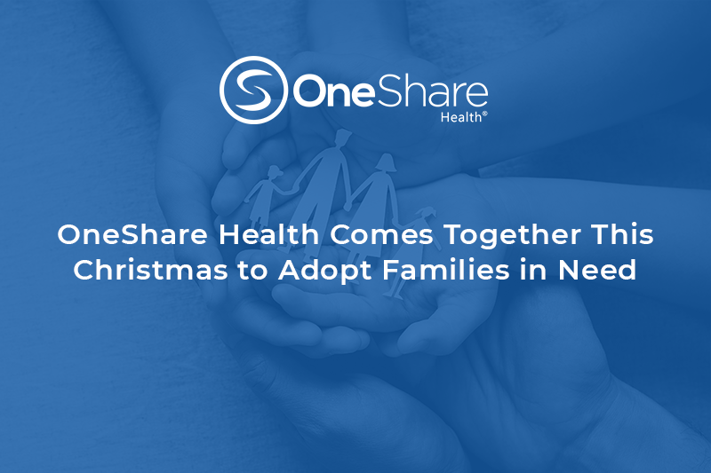 OneShare Health Care Sharing Ministry helps eight local families celebrate Christmas through Adopt-a-Family Program by The Family Place (TFP).