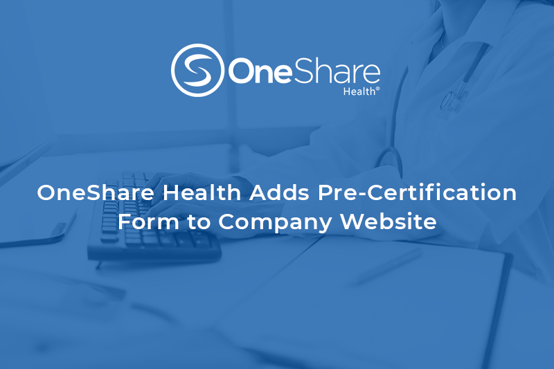 OneShare Health Pre-Certification Form | Christian Health Sharing