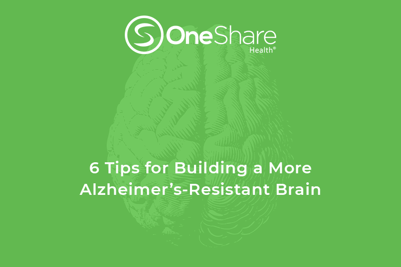 OneShare Healthcare Sharing Ministry Plans Health Blog presents ways to prevent Alzheimers.