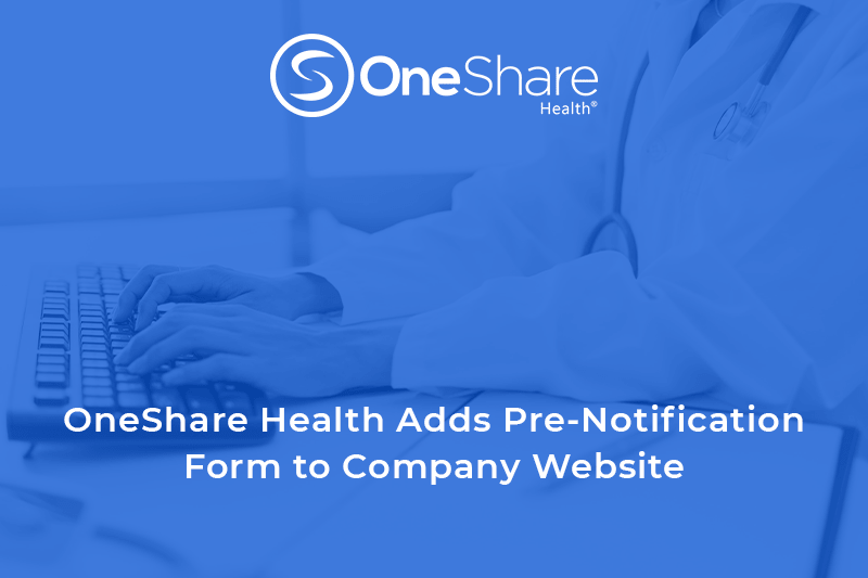 Christian Health Sharing | Download the OneShare Health Pre-Notification Form Today