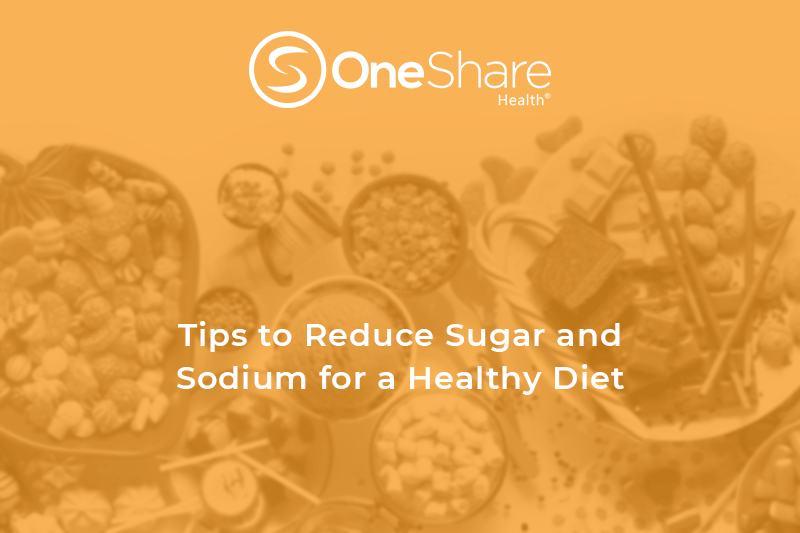 Learn how to cut back on sugar and sodium intake with healthy diet tips and how to eat healthy.