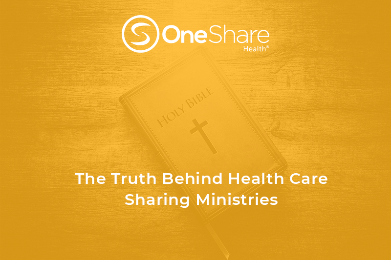 The truth behind a Health Care Sharing Ministry and the medical sharing plans Health Care Sharing Ministries offer.