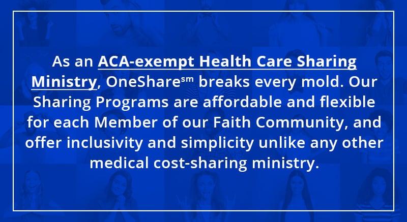 OshShare Health | ACA Exempt